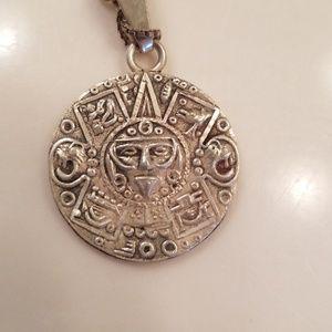 Jewelry - Mayan calendar double side pendant necklace